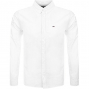 Tommy Jeans Long Sleeved Oxford Shirt White