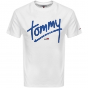 Tommy Jeans Crew Neck Script T Shirt White