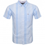 Tommy Jeans Short Sleeved Stripe Shirt Blue