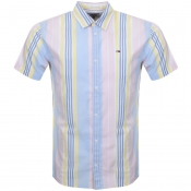 Product Image for Tommy Jeans Short Sleeved Stripe Shirt Pink