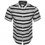 Michael Kors Short Sleeved Striped Shirt Black