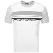 Michael Kors Colourblock Logo T Shirt Grey