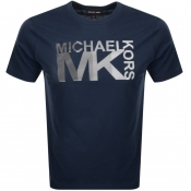 Product Image for Michael Kors Athletic Logo T Shirt Navy