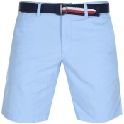 Tommy Hilfiger Brooklyn Twill Belt Shorts Blue