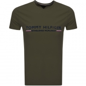 Tommy Hilfiger Logo T Shirt Green