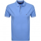 Tommy Hilfiger Slim Polo T Shirt Blue
