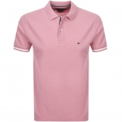 Tommy Hilfiger Slim Polo T Shirt Pink