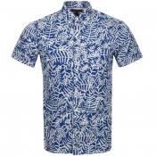 Product Image for Tommy Hilfiger Short Sleeved Leaf Shirt Blue