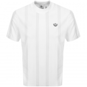 Product Image for adidas Originals Stand Collar T Shirt White