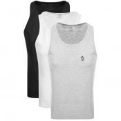 Product Image for Luke 1977  Johnny 3 Pack Vest Grey