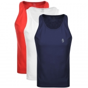 Luke 1977  Johnny 3 Pack Vest Red