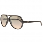 Ray Ban 4125 Cats 5000 Sunglasses Black