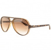 Ray Ban 4125 Cats 5000 Sunglasses Tortoise Brown