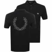 Fred Perry Laurel Wreath Polo T Shirt Black
