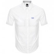 Product Image for BOSS Athleisure Biadiar Short Sleeved Shirt White