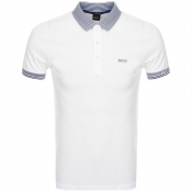 BOSS Athleisure Paule Polo T Shirt White