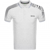 BOSS Athleisure Paule Pro Polo T Shirt Grey