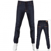 Nudie Jeans Lean Dean Slim Tapered Jeans Dips Blue