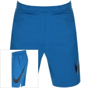 Nike Training Logo Shorts Blue