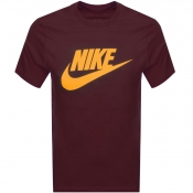Product Image for Nike Crew Neck Logo T Shirt Burgundy