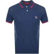 Product Image for PS By Paul Smith Slim Fit Zebra Polo T Shirt Blue