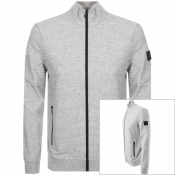 BOSS Casual Zaldo Full Zip Sweatshirt Grey