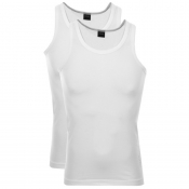 BOSS HUGO BOSS Double Pack Vest T Shirts White