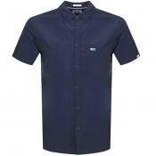 Tommy Jeans Short Sleeved Poplin Shirt Navy