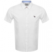 PS By Paul Smith Short Sleeved Casual Shirt White