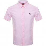 PS By Paul Smith Short Sleeved Casual Shirt Pink
