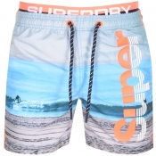 Superdry Beach Volley Swim Shorts Blue
