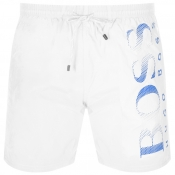 BOSS HUGO BOSS Octopus Swim Shorts White