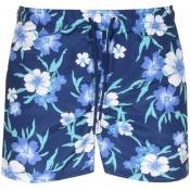 Gant Floral Classic Fit Swim Shorts Navy