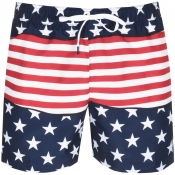 Tommy Hilfiger American Flag Swim Shorts Navy