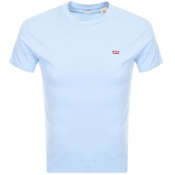 Product Image for Levis Original Crew Neck Logo T Shirt Blue