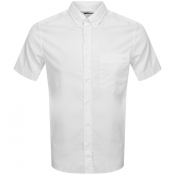 HUGO Ekilio Short Sleeve Shirt White