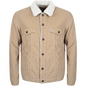 Product Image for Levis Sherpa Trucker Corduroy Jacket Beige