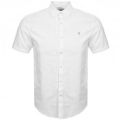 Farah Vintage Short Sleeved Brewer Shirt White