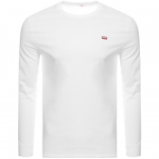 Product Image for Levis Original Long Sleeve Logo T Shirt White