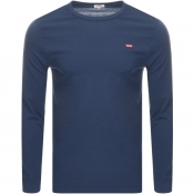 Product Image for Levis Original Long Sleeve Logo T Shirt Navy