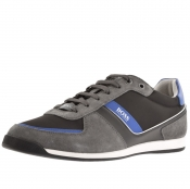 Product Image for BOSS Athleisure Glaze Lowp Trainers Grey
