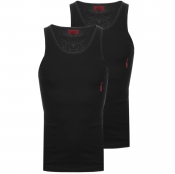 HUGO Double Pack Vest T Shirts Black