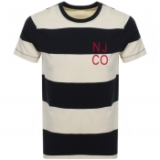 Product Image for Nudie Jeans Roy Block Stripe T Shirt Black