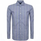 Product Image for BOSS HUGO BOSS Long Sleeved Jason Shirt Blue