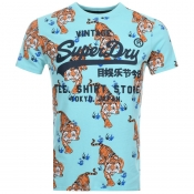 Superdry Logo T Shirt Blue