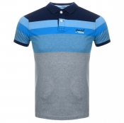 Product Image for Superdry Miami Feeder Polo T Shirt Blue