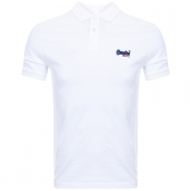 Superdry Lite City Polo T Shirt White
