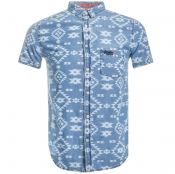Product Image for Superdry Short Sleeved Miami Loom Shirt Blue