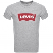 Levis Logo Crew Neck T Shirt Grey