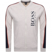 BOSS HUGO BOSS Full Zip Sweatshirt Beige Marl